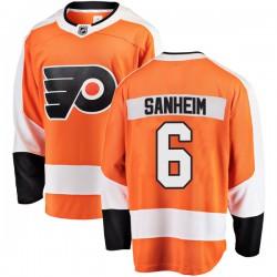 Travis Sanheim Philadelphia Flyers Men's Fanatics Branded Orange Breakaway Home Jersey