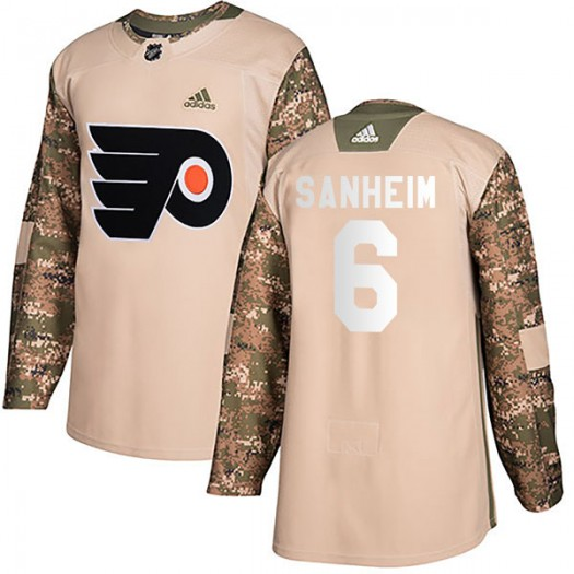 Travis Sanheim Philadelphia Flyers Youth Adidas Authentic Camo Veterans Day Practice Jersey