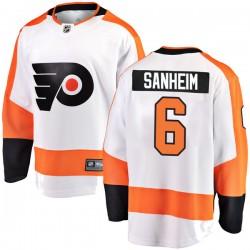 Travis Sanheim Philadelphia Flyers Youth Fanatics Branded White Breakaway Away Jersey