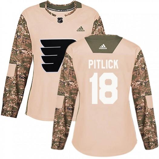 Tyler Pitlick Philadelphia Flyers Women's Adidas Authentic Camo Veterans Day Practice Jersey