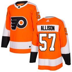 Wade Allison Philadelphia Flyers Men's Adidas Authentic Orange Home Jersey