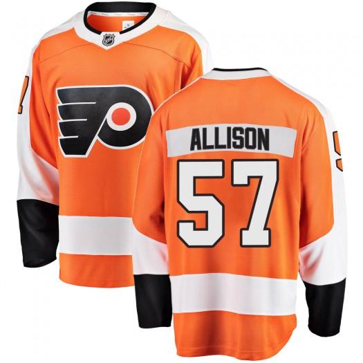 Wade Allison Philadelphia Flyers Men's Fanatics Branded Orange Breakaway Home Jersey