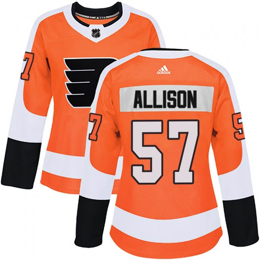 Wade Allison Philadelphia Flyers Women's Adidas Authentic Orange Home Jersey