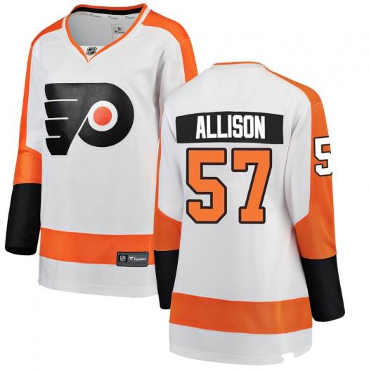 Wade Allison Philadelphia Flyers Women's Fanatics Branded White Breakaway Away Jersey