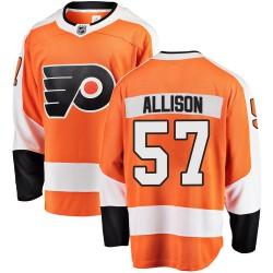 Wade Allison Philadelphia Flyers Youth Fanatics Branded Orange Breakaway Home Jersey
