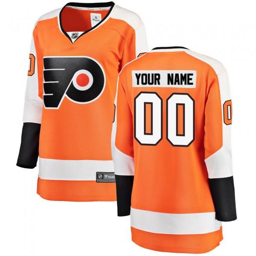 Women's Fanatics Branded Philadelphia Flyers Customized Breakaway Orange Home Jersey