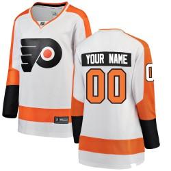 Women's Fanatics Branded Philadelphia Flyers Customized Breakaway White Away Jersey