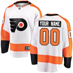 Youth Fanatics Branded Philadelphia Flyers Customized Breakaway White Away Jersey