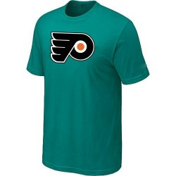 Philadelphia Flyers Men's Green Big & Tall Logo T-ShirtAque