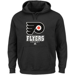 Philadelphia Flyers Men's Majestic Black Big & Tall Critical Victory Pullover Hoodie