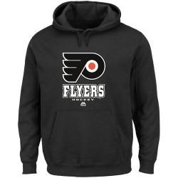 Philadelphia Flyers Men's Majestic Black Critical Victory VIII Fleece Hoodie