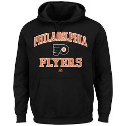 Philadelphia Flyers Men's Majestic Black Heart & Soul Hoodie