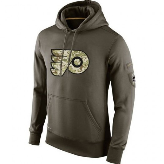 Philadelphia Flyers Men's Nike Olive Salute To Service KO Performance Hoodie