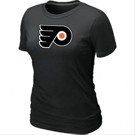 Philadelphia Flyers Women's Black Big & Tall Logo T-Shirt