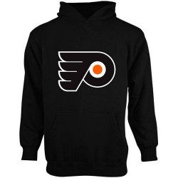 Philadelphia Flyers Youth Black Men's Old Time Hockey Big Logo Fleece Pullover Hoodie