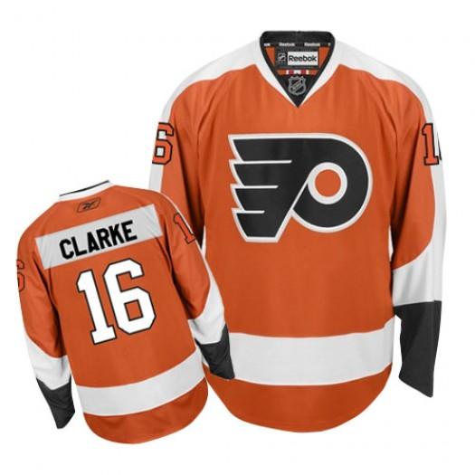 Bobby Clarke Philadelphia Flyers Men's Reebok Authentic Orange Home Jersey