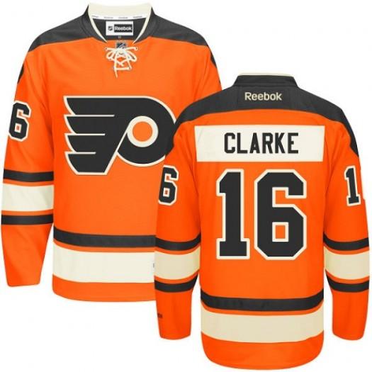Bobby Clarke Philadelphia Flyers Men's Reebok Authentic Orange New Third Jersey