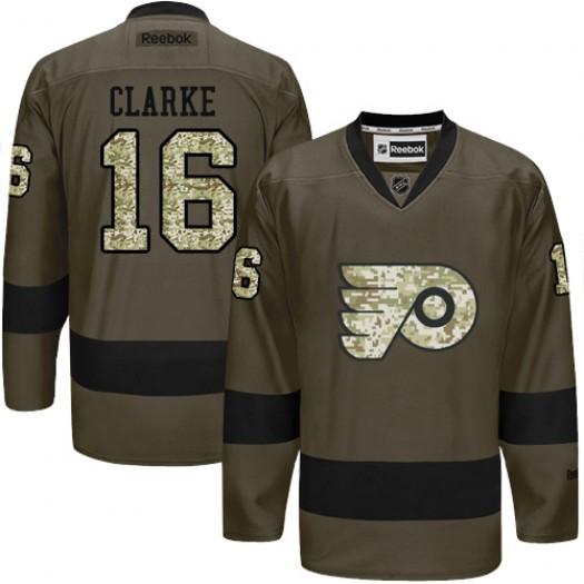 Bobby Clarke Philadelphia Flyers Men's Reebok Premier Green Salute to Service Jersey