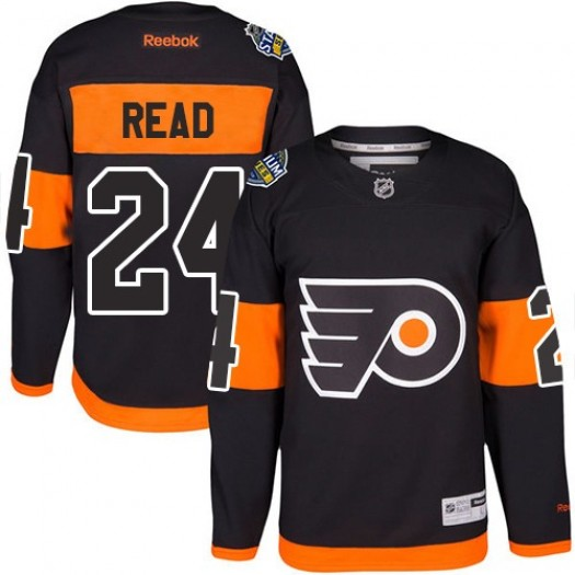 f628f6cbf Matt Read Philadelphia Flyers Youth Reebok Premier Black 2017 Stadium  Series Jersey