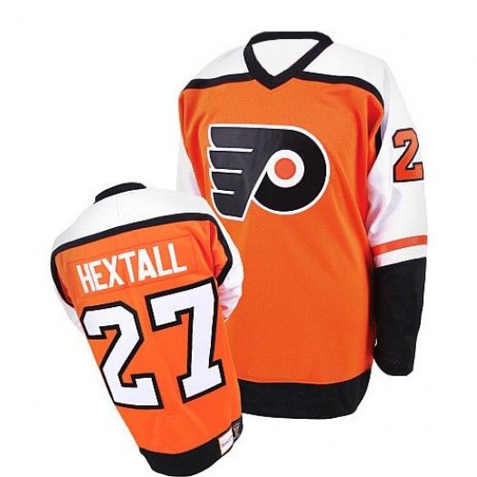 Ron Hextall Philadelphia Flyers Men's Mitchell and Ness Authentic Orange Throwback Jersey